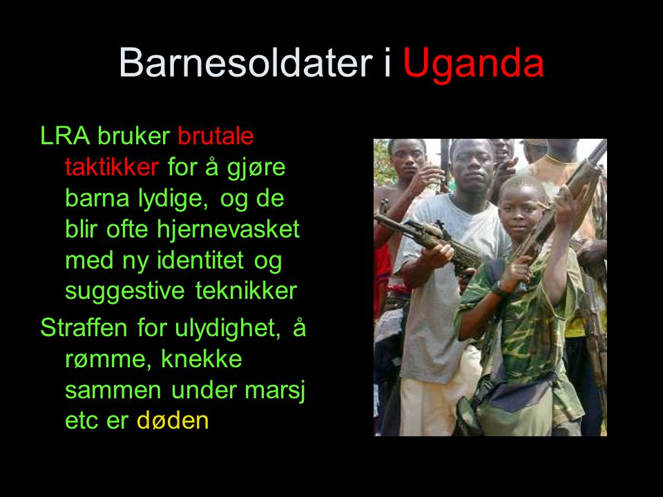 Barnesoldater i Uganda