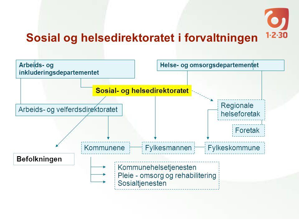 Sosial og helsedirektoratet i forvaltningen