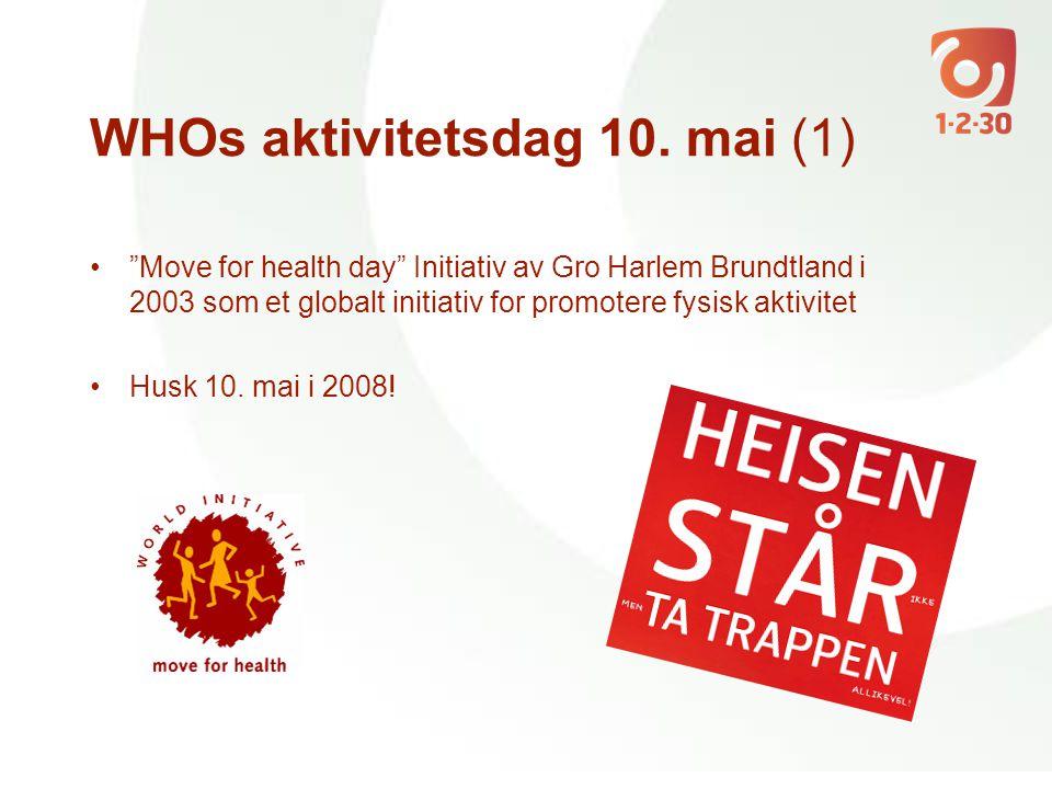 WHOs aktivitetsdag 10. mai (1)