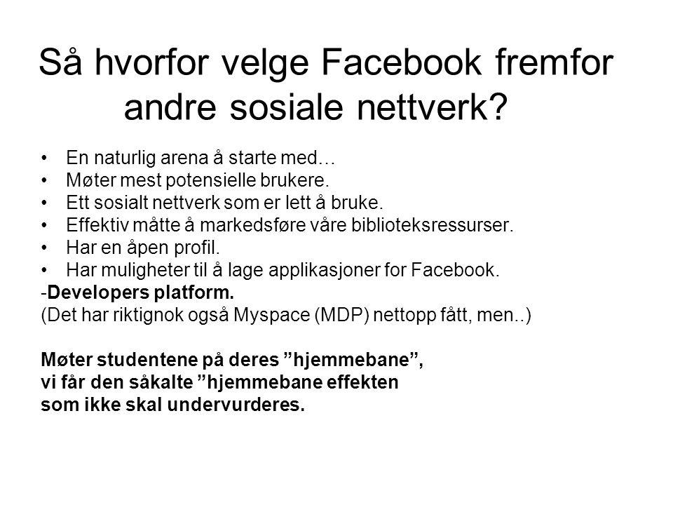 Så hvorfor velge Facebook fremfor andre sosiale nettverk