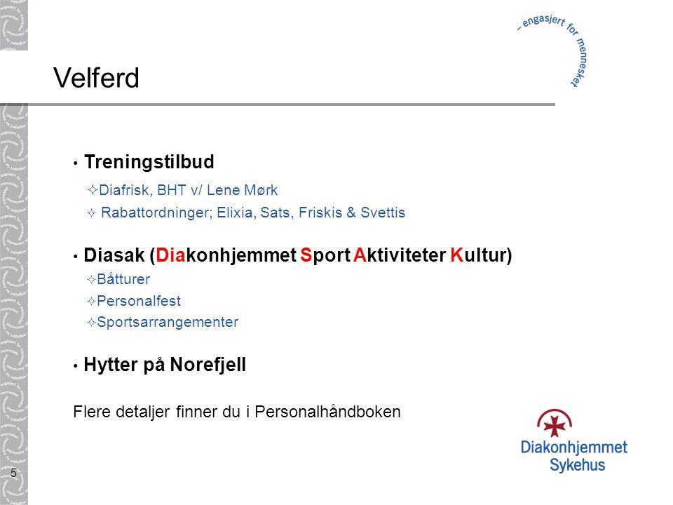Velferd Treningstilbud Diafrisk, BHT v/ Lene Mørk