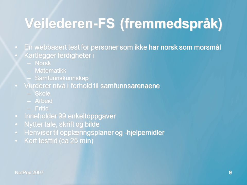 Veilederen-FS (fremmedspråk)