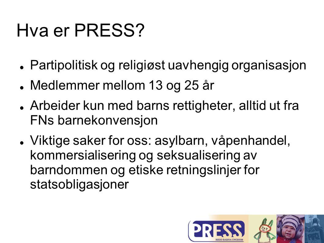 Hva er PRESS Partipolitisk og religiøst uavhengig organisasjon