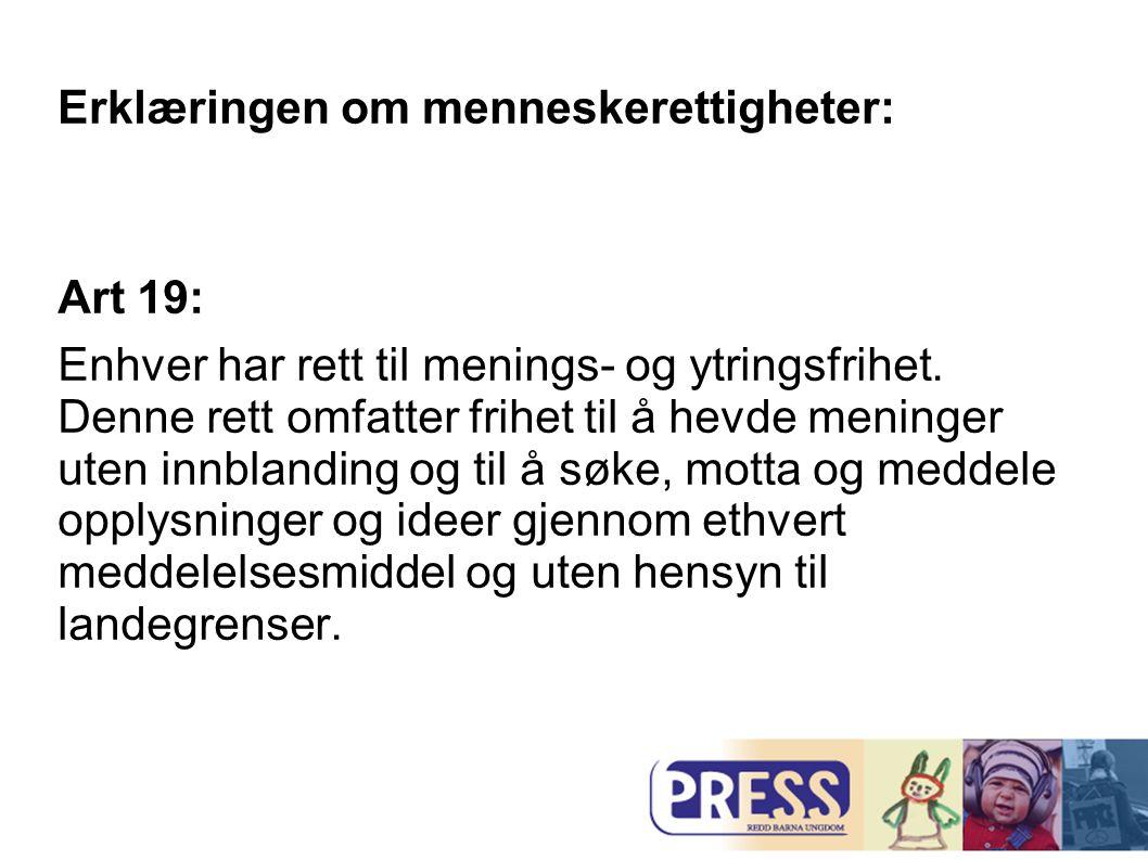 Erklæringen om menneskerettigheter: