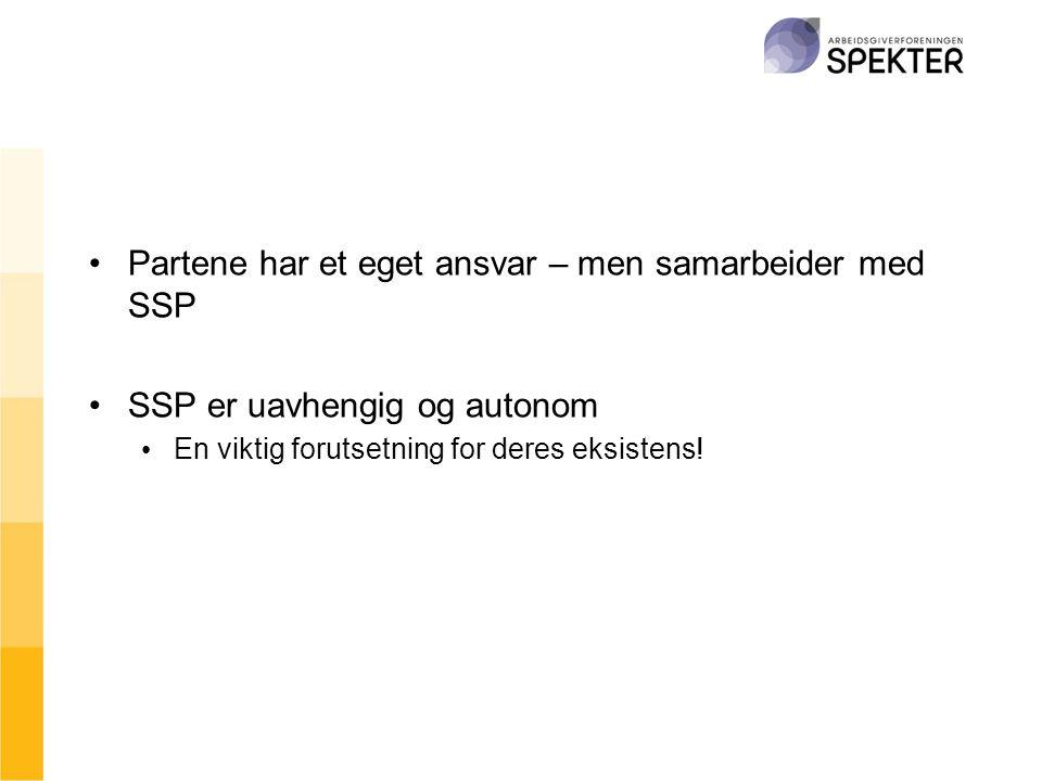 Partene har et eget ansvar – men samarbeider med SSP