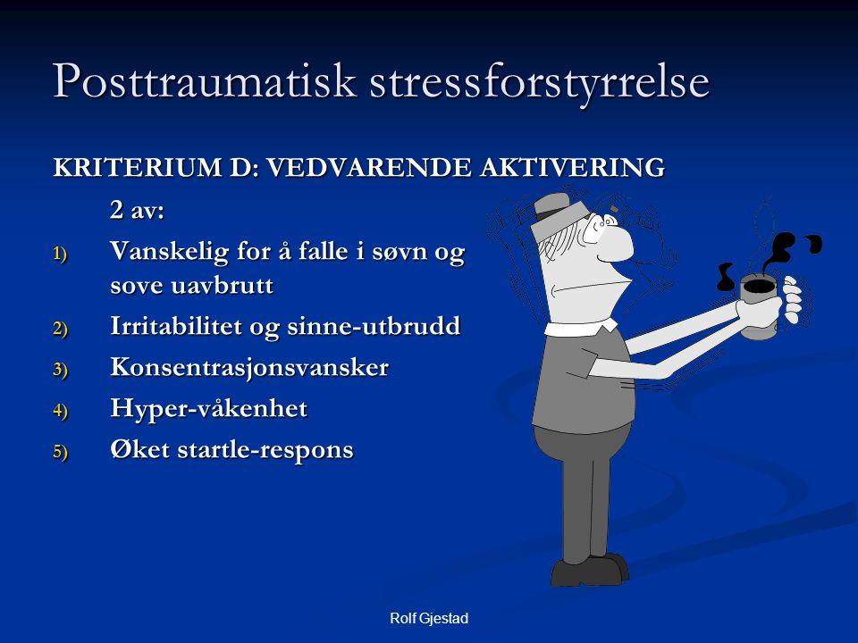 Posttraumatisk stressforstyrrelse