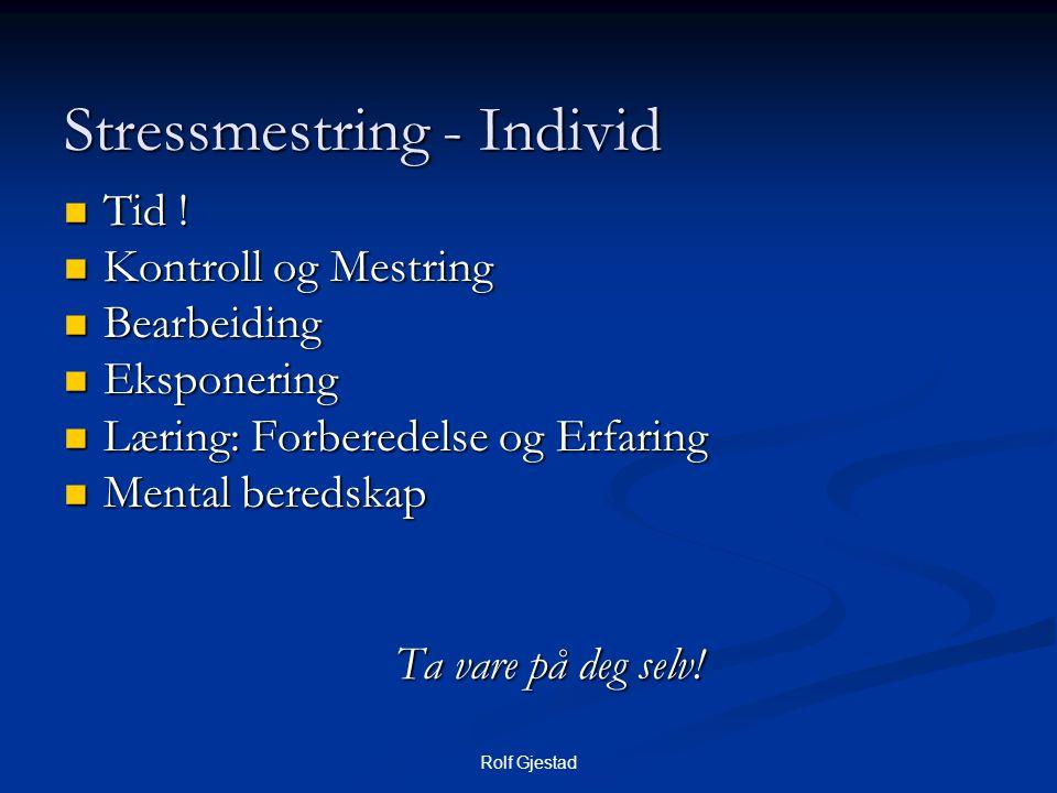 Stressmestring - Individ