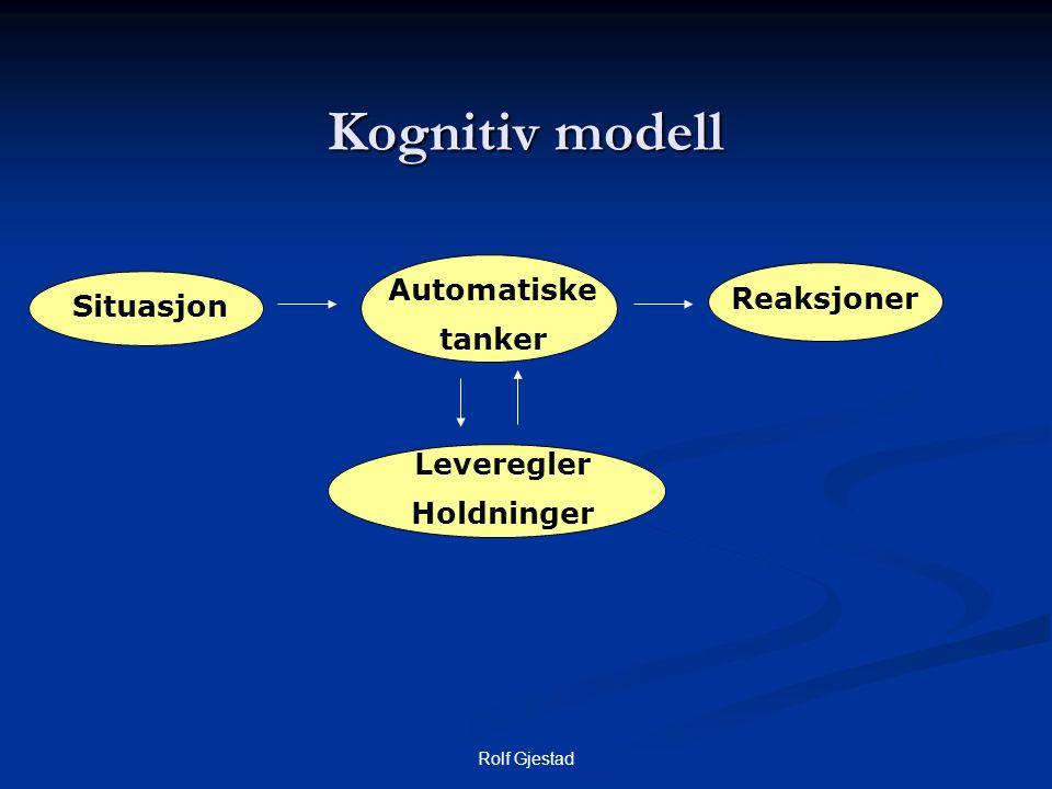 Kognitiv modell Automatiske Reaksjoner Situasjon tanker Leveregler