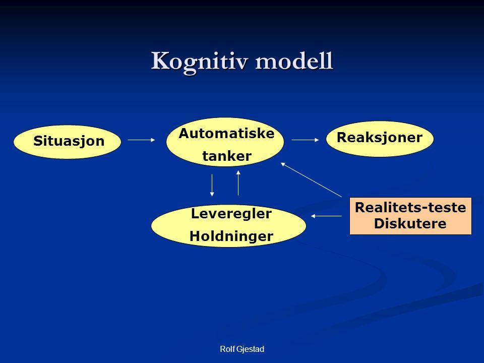 Kognitiv modell Automatiske Reaksjoner Situasjon tanker