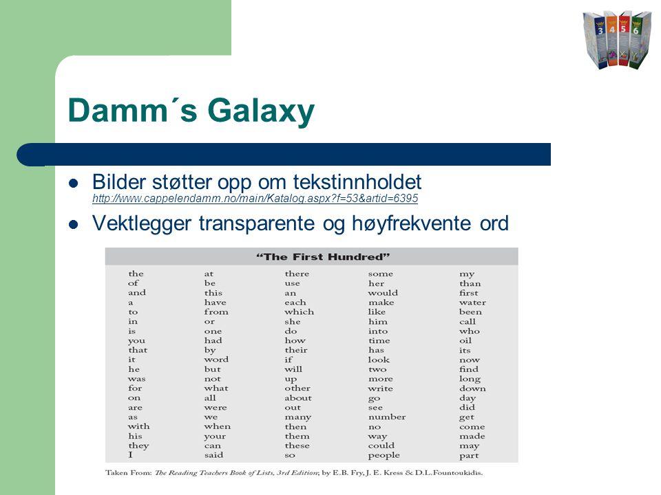 Damm´s Galaxy Bilder støtter opp om tekstinnholdet http://www.cappelendamm.no/main/Katalog.aspx f=53&artid=6395.