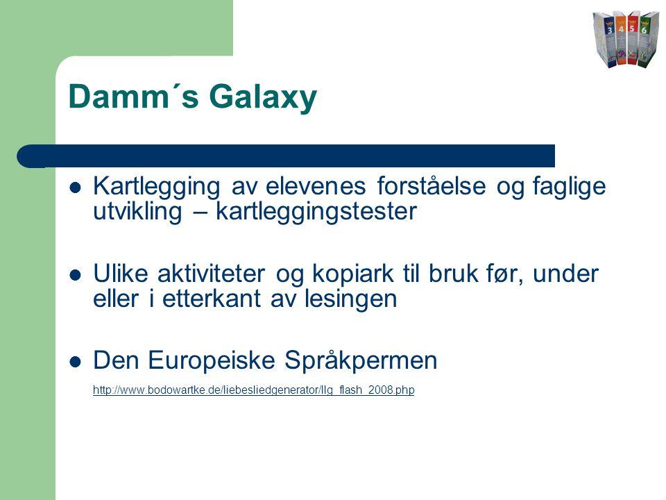 Damm´s Galaxy Kartlegging av elevenes forståelse og faglige utvikling – kartleggingstester.