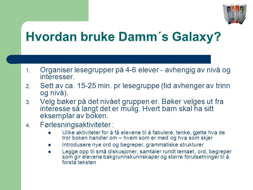 Hvordan bruke Damm´s Galaxy