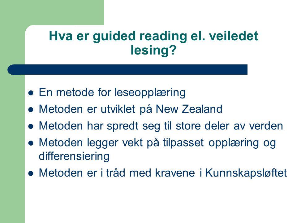 Hva er guided reading el. veiledet lesing