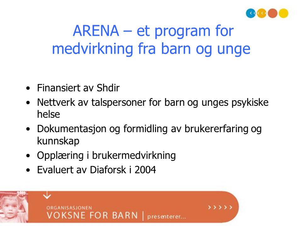 ARENA – et program for medvirkning fra barn og unge