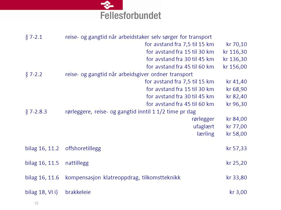 § 7-2.1 reise- og gangtid når arbeidstaker selv sørger for transport. for avstand fra 7,5 til 15 km.
