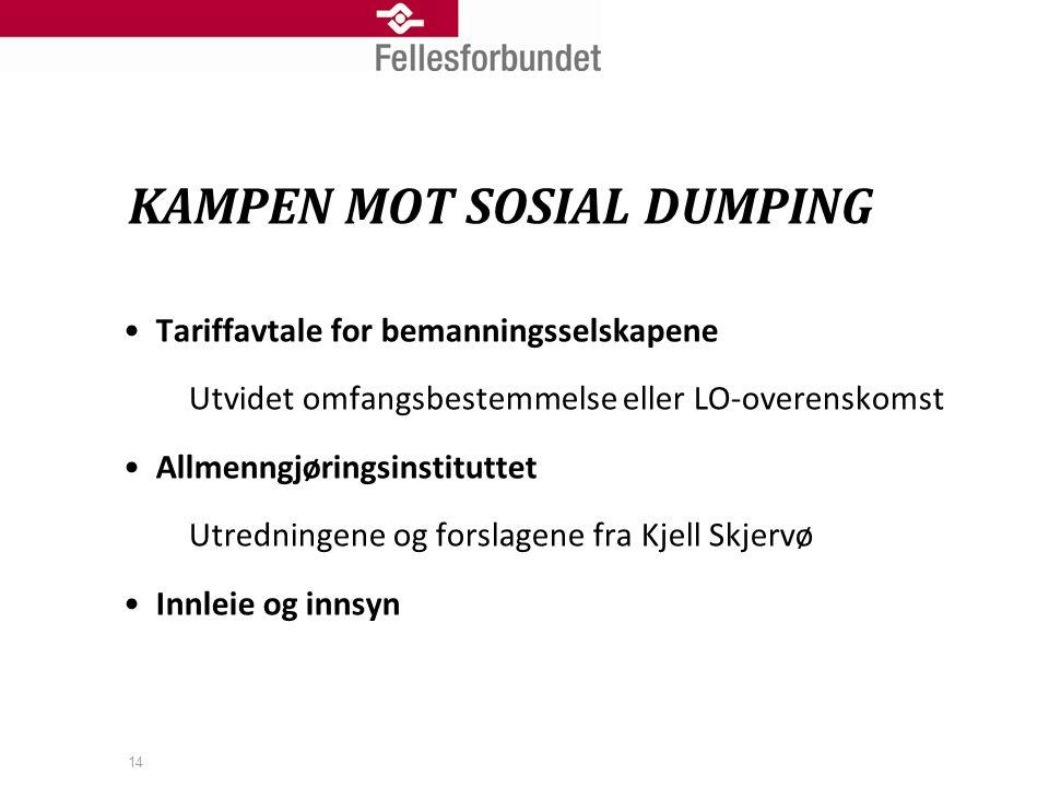 KAMPEN MOT SOSIAL DUMPING