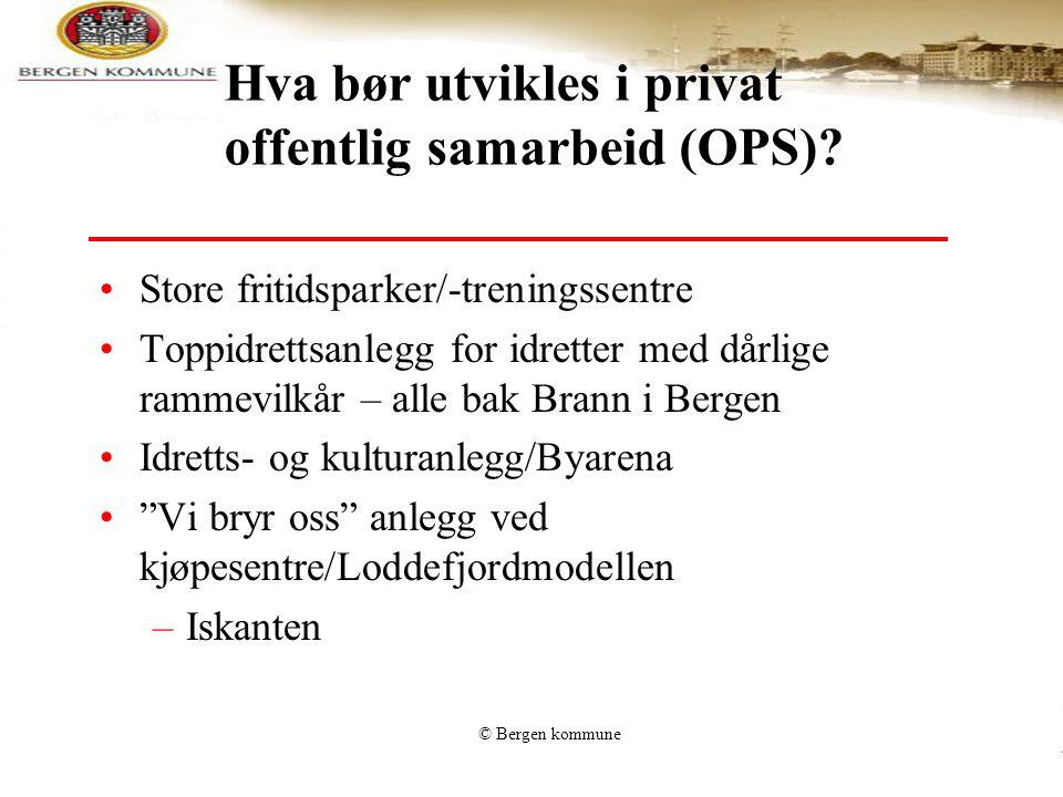 Hva bør utvikles i privat offentlig samarbeid (OPS)