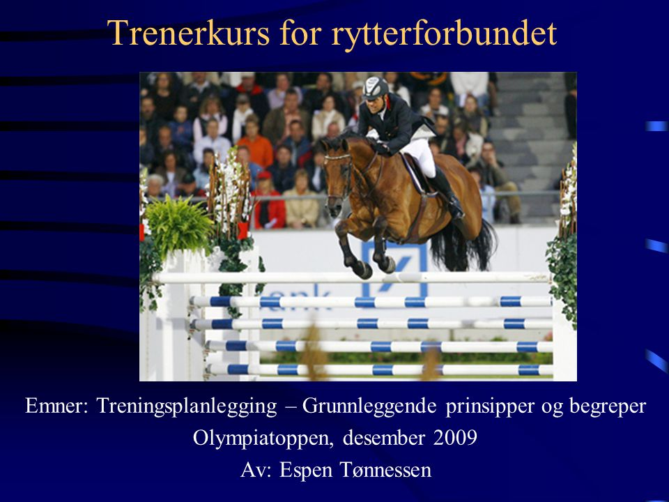 Trenerkurs for rytterforbundet