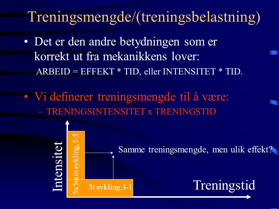 Treningsmengde/(treningsbelastning)