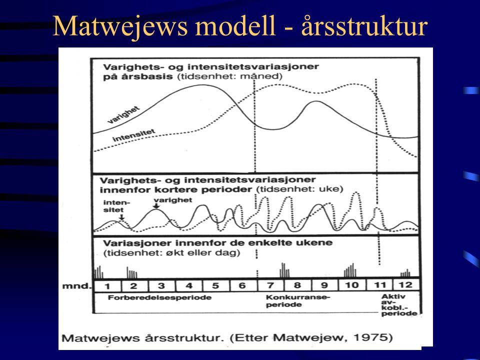 Matwejews modell - årsstruktur