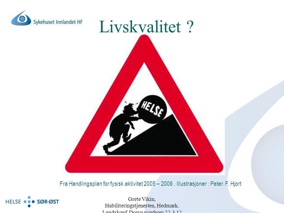 Livskvalitet Fra Handlingsplan for fysisk aktivitet 2005 – 2009 . Illustrasjoner : Peter. F. Hjort.