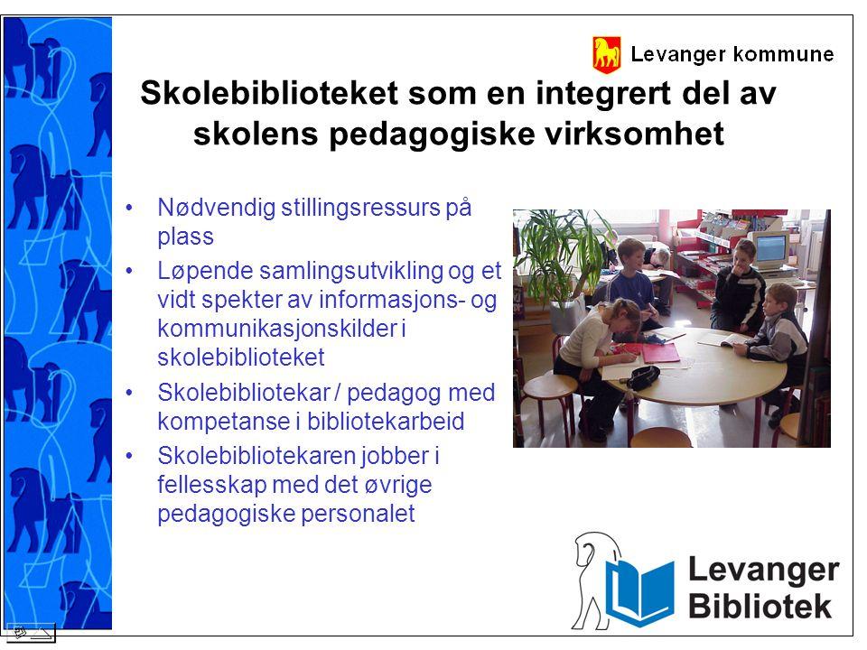 Skolebiblioteket som en integrert del av skolens pedagogiske virksomhet