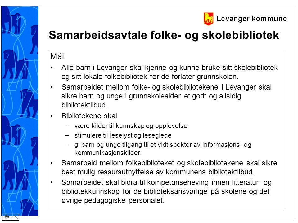 Samarbeidsavtale folke- og skolebibliotek