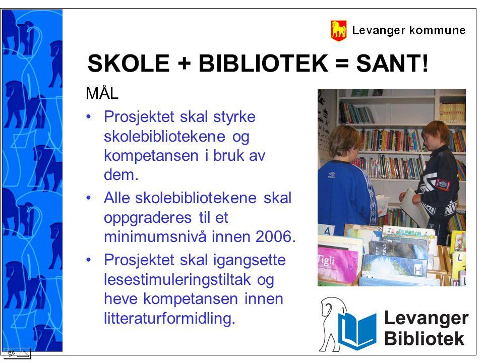 SKOLE + BIBLIOTEK = SANT!