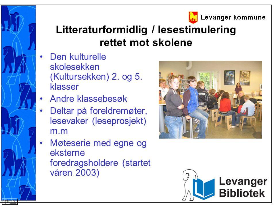 Litteraturformidlig / lesestimulering rettet mot skolene
