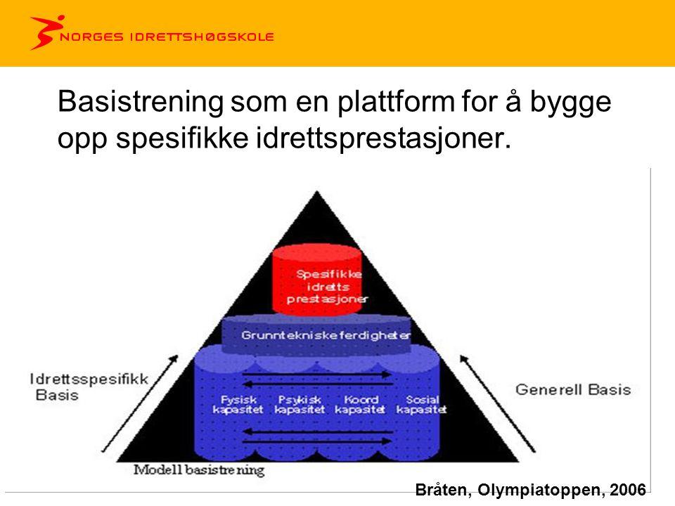 Basistrening som en plattform for å bygge opp spesifikke idrettsprestasjoner.