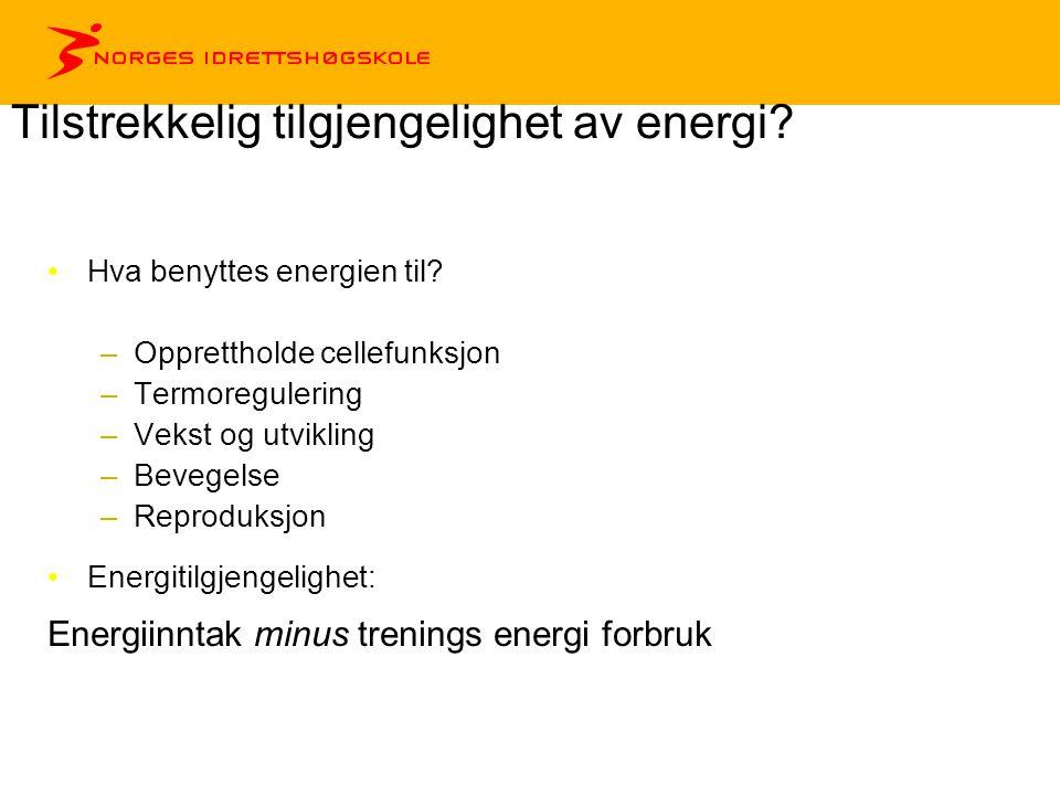 Tilstrekkelig tilgjengelighet av energi
