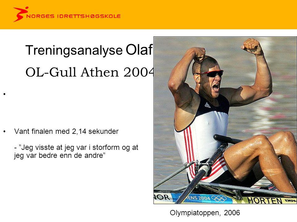 Treningsanalyse Olaf Tufte OL-Gull Athen 2004