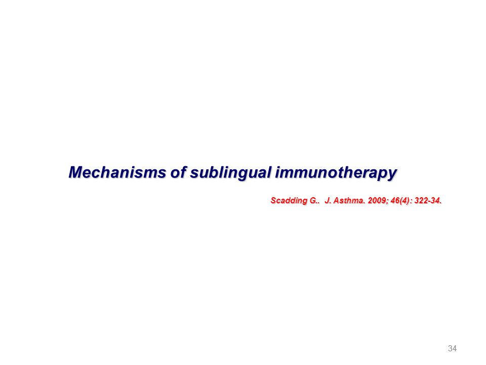 Mechanisms of sublingual immunotherapy