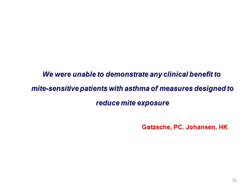 We were unable to demonstrate any clinical benefit to