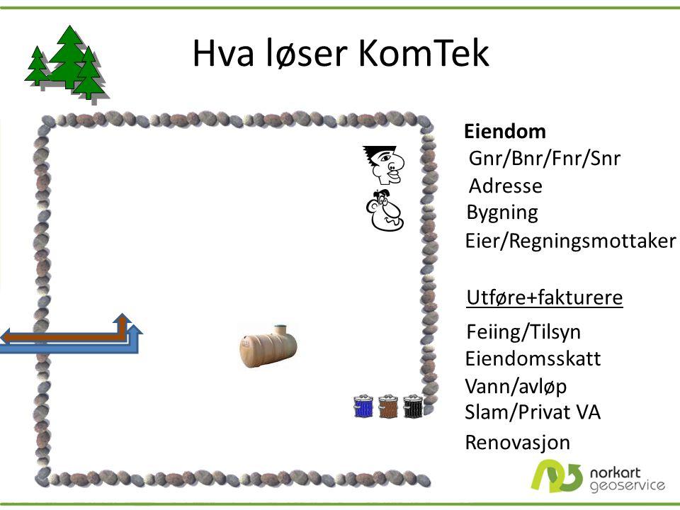 Hva løser KomTek Eiendom Gnr/Bnr/Fnr/Snr Adresse Bygning