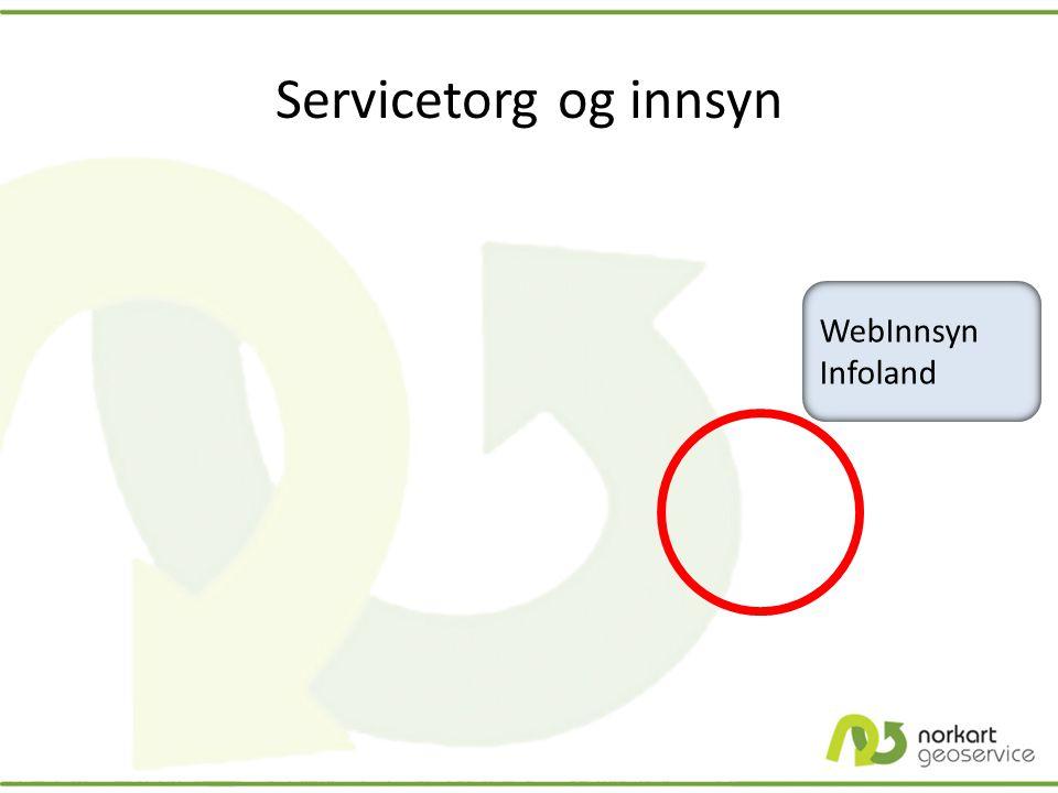 Servicetorg og innsyn WebInnsyn Infoland WebInnsyn Infoland