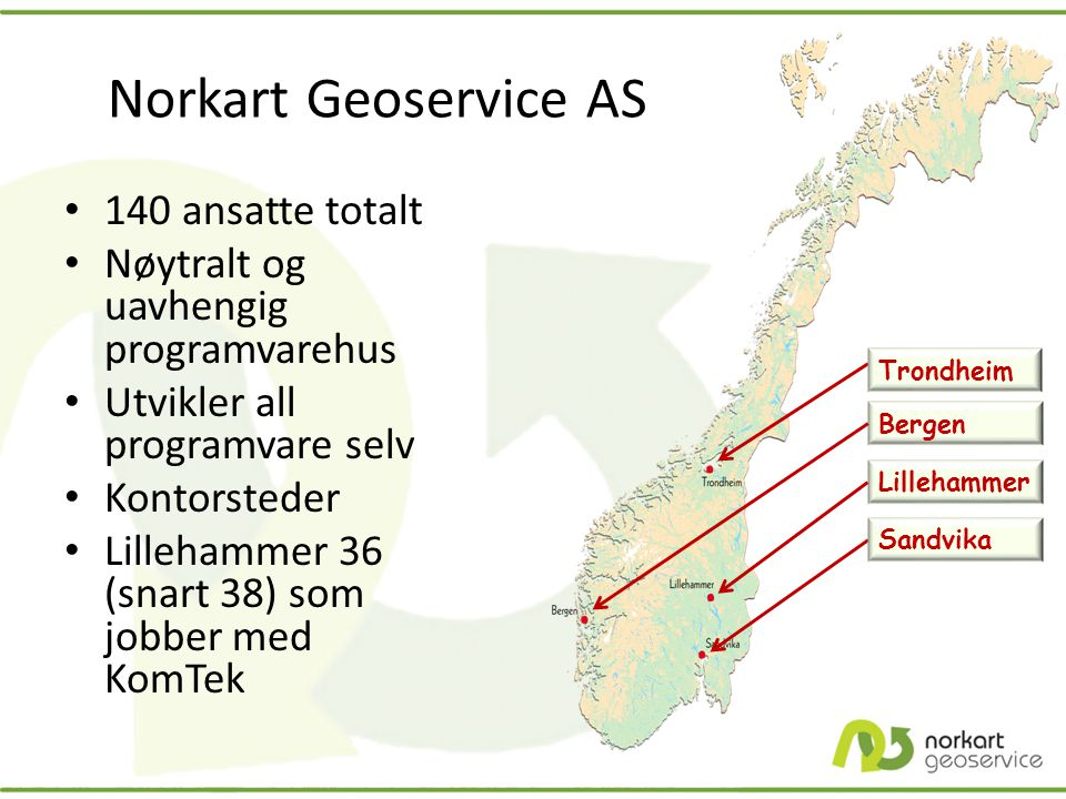 Norkart Geoservice AS 140 ansatte totalt