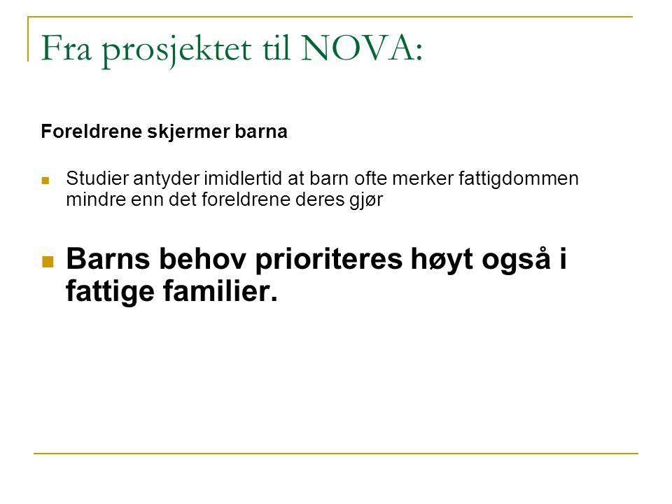 Fra prosjektet til NOVA: