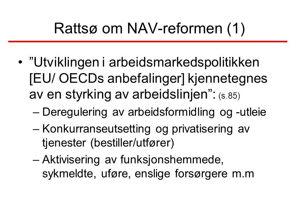Rattsø om NAV-reformen (1)