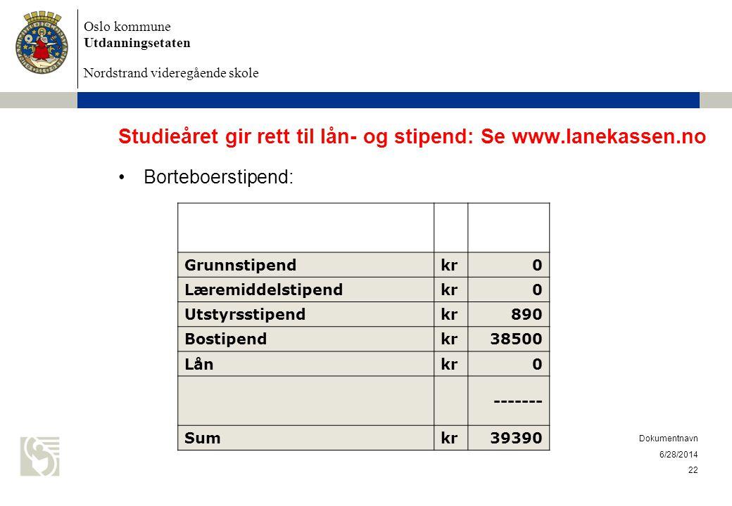 Studieåret gir rett til lån- og stipend: Se www.lanekassen.no