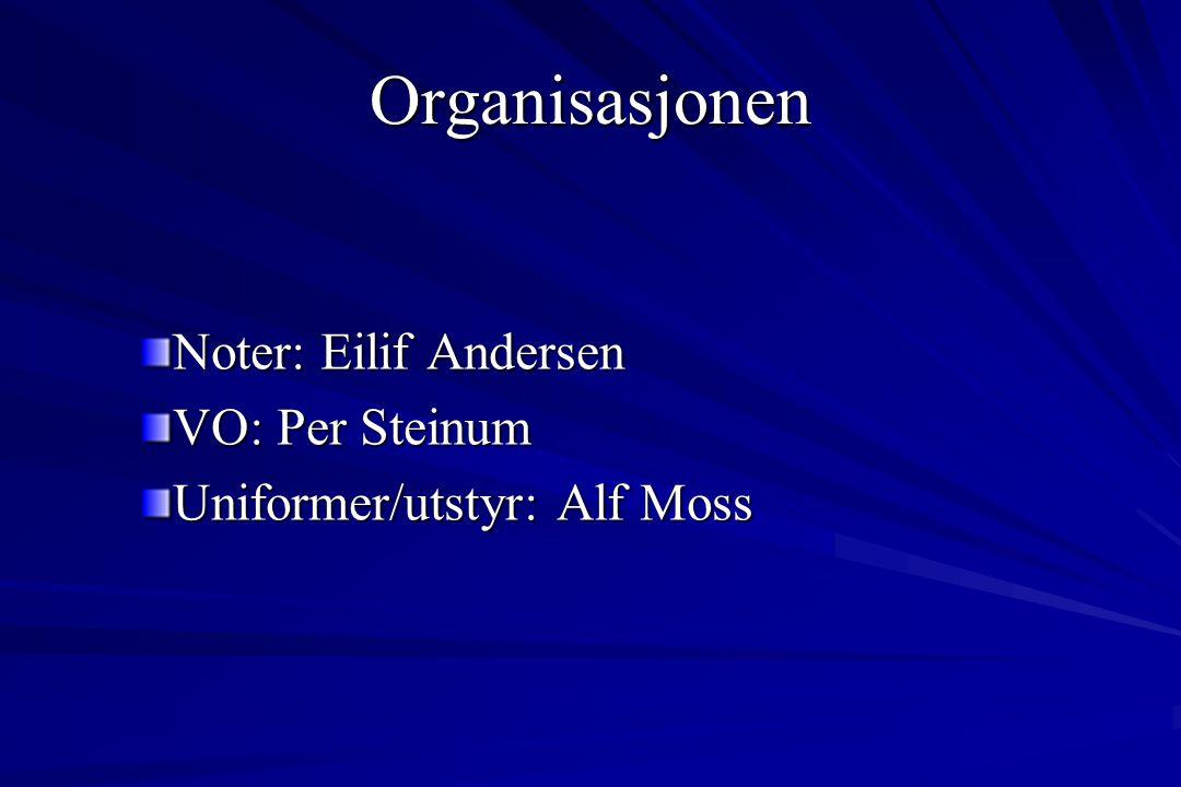 Organisasjonen Arrangementskomite: Terje Ottesen Alf Moss
