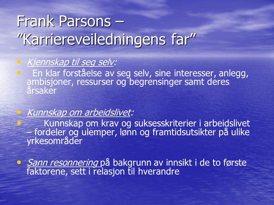 Frank Parsons – Karriereveiledningens far