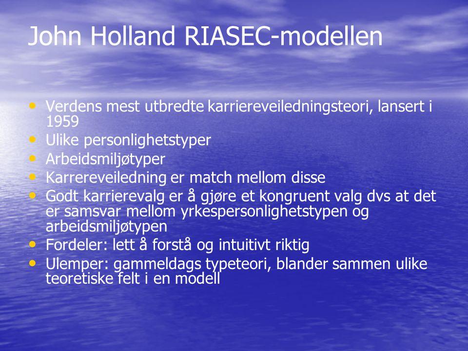 John Holland RIASEC-modellen