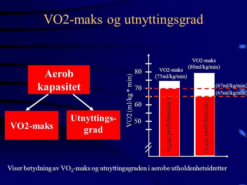 VO2-maks og utnyttingsgrad