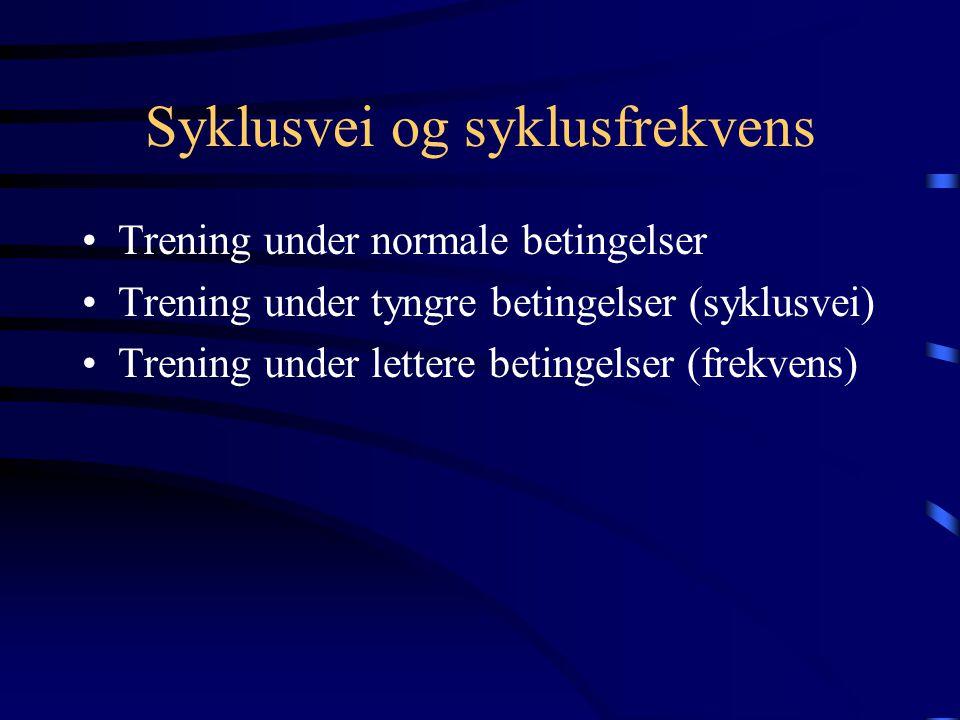 Syklusvei og syklusfrekvens
