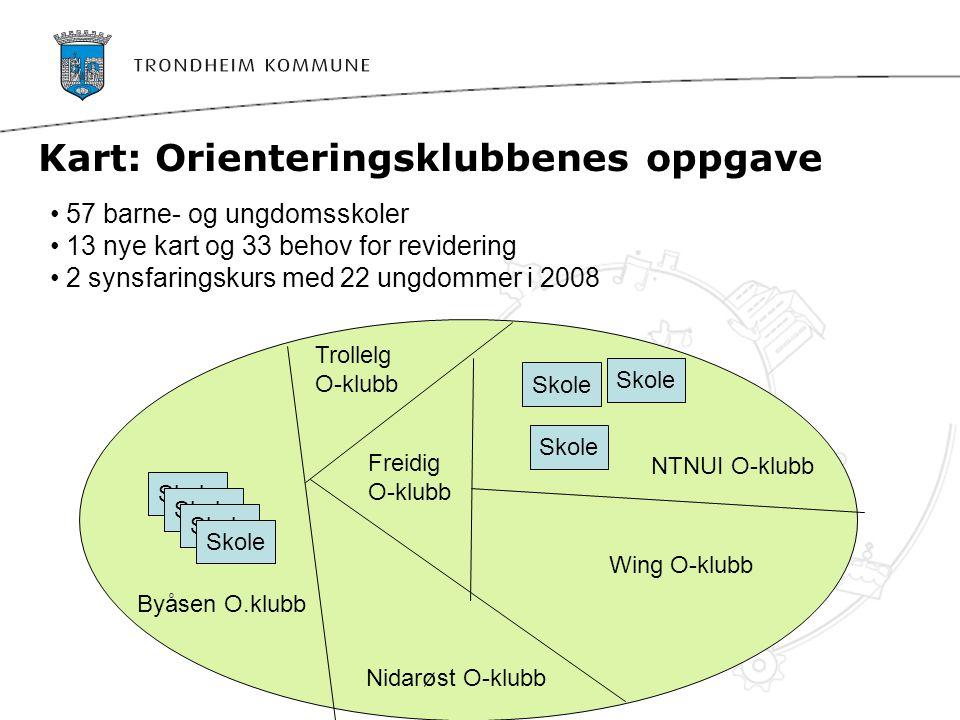 Kart: Orienteringsklubbenes oppgave