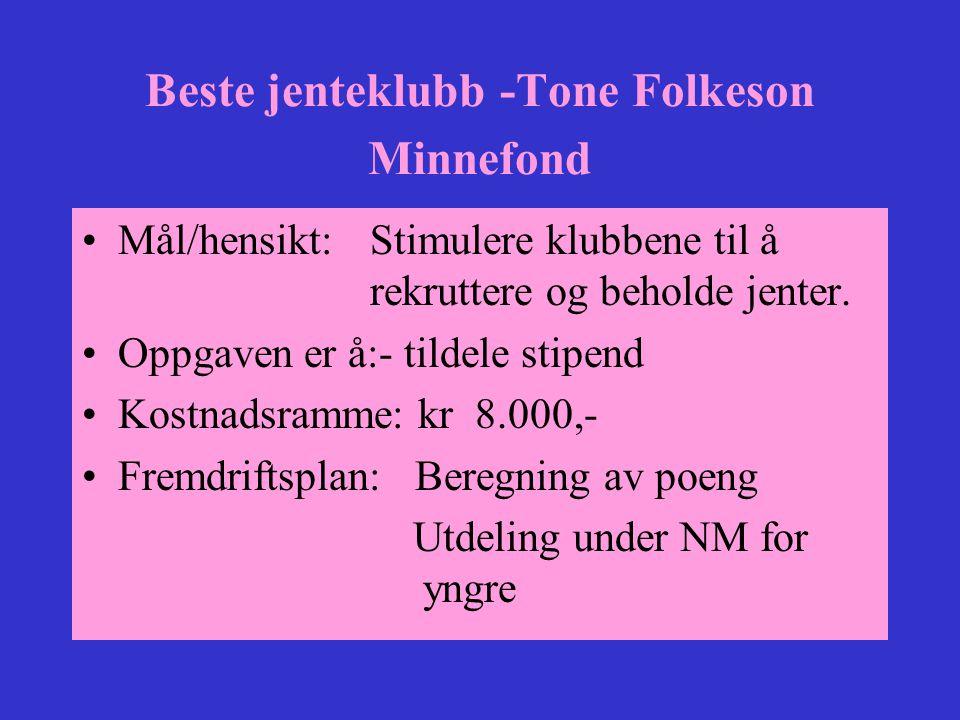 Beste jenteklubb -Tone Folkeson Minnefond