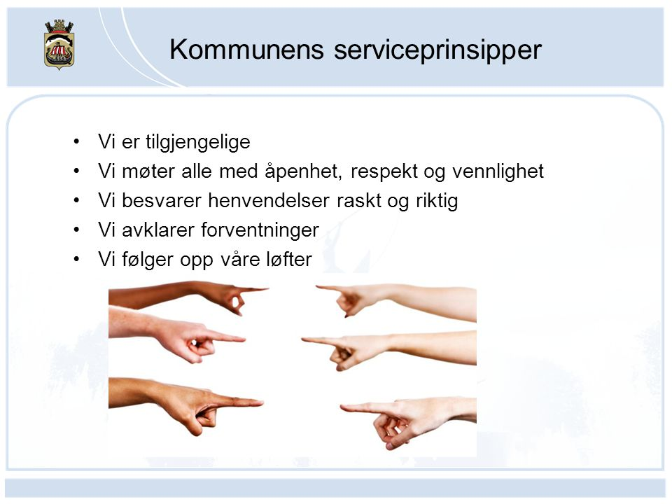 Kommunens serviceprinsipper