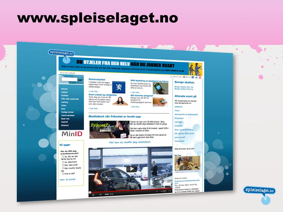 www.spleiselaget.no Denne innledningssiden kan brukes til å vise spleiselaget.no når du ikke har tilgang til internett.