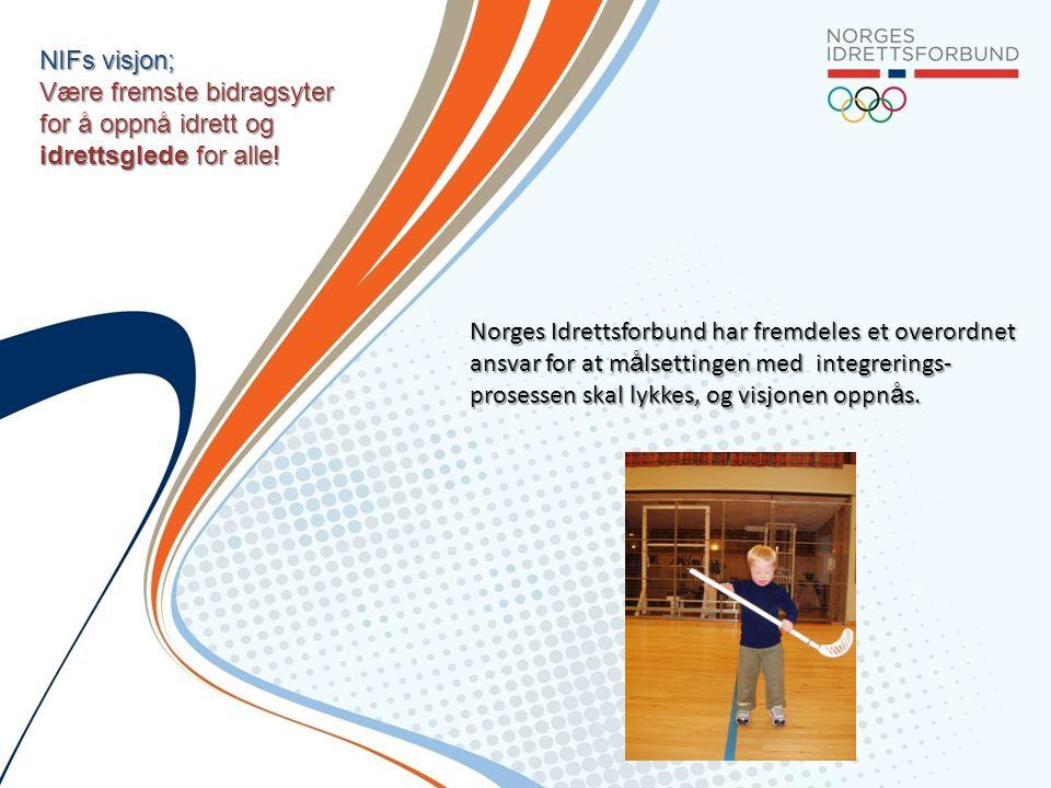 NIFs visjon; Være fremste bidragsyter for å oppnå idrett og idrettsglede for alle!